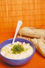 Суп с «ракушками» по-итальянски